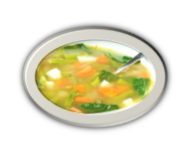 Mixed Veg Basil Soup